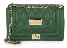 Mario Valentino Quilted Leather Shoulder Bag