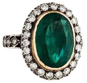 Amrapali Two-Tone Emerald & Diamond Ring