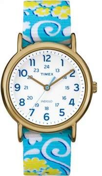 Timex Women's Ironman TW2P90100 Blue Nylon Analog Quartz Fashion Watch
