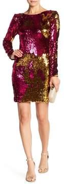 Dress the Population Lola Colorblock Sequin Dress