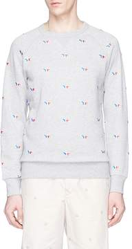 MAISON KITSUNÉ Fox logo embroidered sweatshirt