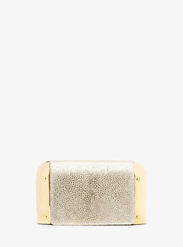 Michael Kors Leyla Small Stingray Clutch - GOLD - STYLE