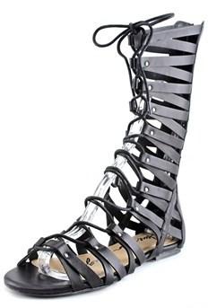 American Rag Maya Women Open Toe Synthetic Black Gladiator Sandal.