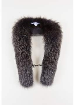 Max Mara Pre-owned Grey & White Fox Fur Collar Scarf.