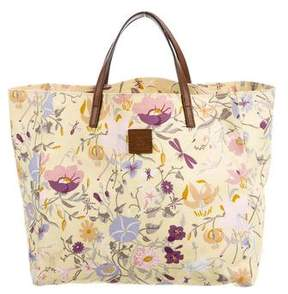 Gucci Girls Floral Tote - BROWN - STYLE