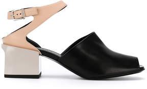 Jil Sander contrast panel sandals