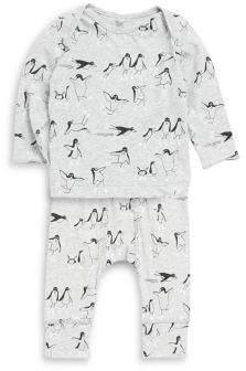 Stella McCartney Baby's Penguin Print Cotton Pajama Set