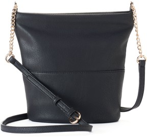 LC Lauren Conrad Daisy Soft Bucket Crossbody Bag