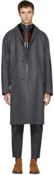 Kolor Grey Long Wool and Cashmere Coat