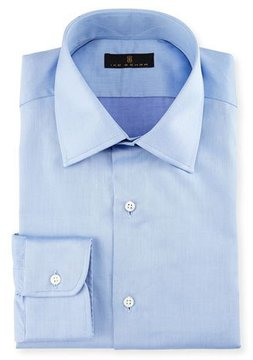 Ike Behar Gold Label Micro-Herringbone Dress Shirt, French Blue