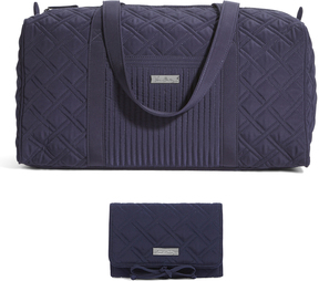Vera Bradley Classic Navy Small Duffel Bag & All Wrapped Up Jewelry Organizer - CLASSIC - STYLE