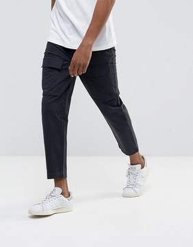 Kiomi Cargo Pants In Washed Black