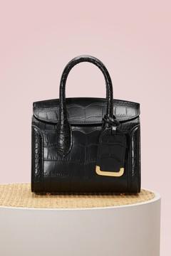 Alexander Mcqueen Heroine 21 croc leather tote bag