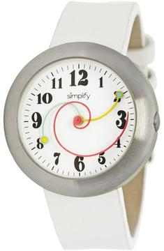 Simplify The 2700 Collection SIM2702 Unisex Stainless Steel Watch with Leather Strap