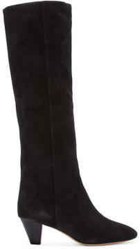 Isabel Marant Black Suede Robby Boots