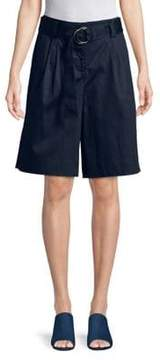 Ellen Tracy The Hamptons Belted Wide Leg Shorts