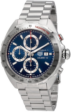 Tag Heuer Formula 1 Blue Sunray Dial Automatic Men's Chronograph Watch