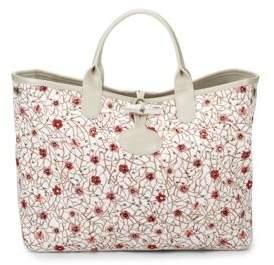 Longchamp Roseau Fleuri Hand Bag - WHITE - STYLE