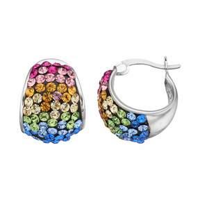 Confetti Crystal Hoop Earrings