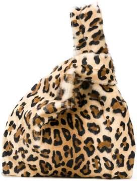 Simonetta Ravizza leopard fur tote bag