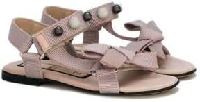 No.21 Kids embellished bow sandals