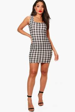 boohoo Tammy Square Neck Jersey Bodycon Dress