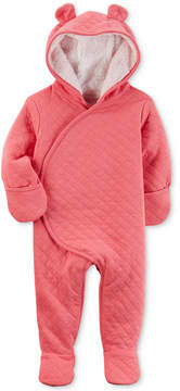 Carter's Hooded Quilted Footed Pram Bunting, Baby Girls (0-24 months)