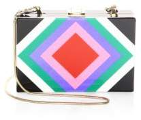 Milly Diamond Square Clutch