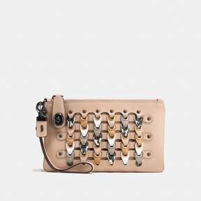COACH Coach New YorkCoach Turnlock Wristlet 21 With Snakeskin Link - BLACK COPPER/BEECHWOOD MULTI - STYLE