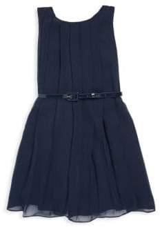 Ralph Lauren Toddler's, Little Girl's& Girl's Pleated Shift Dress with Belt
