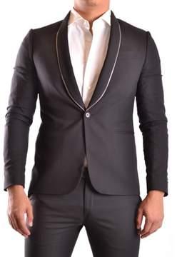 Les Hommes Men's Black Polyamide Blazer.