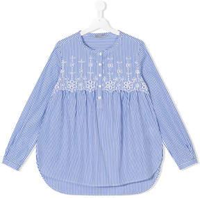 Ermanno Scervino TEEN floral embroidered shirt