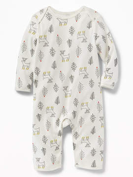 Old Navy Reindeer-Print Jersey One-Piece for Baby