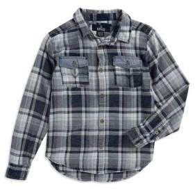 Buffalo David Bitton Boy's Plaid Cotton Button-Down Shirt