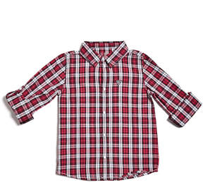 GUESS Plaid Long-Sleeve Shirt (2-7)