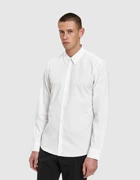 Dries Van Noten Smooth Poplin Shirt in White