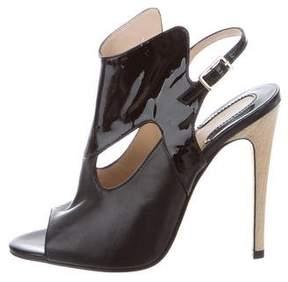 Camilla Skovgaard Leather Peep-Toe Ankle Boots