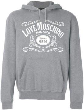 Love Moschino logo hoody