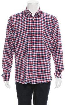 Glanshirt Check Print Button-Up Shirt