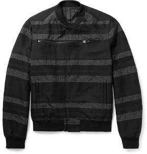 Balenciaga Striped Cotton-Blend Jacquard Bomber Jacket