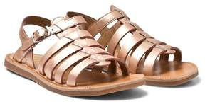 Pom D'Api Pom Dapi Rose Gold Plagette Strap Buckled Sandals
