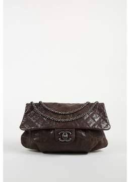 Chanel Pre-owned Fall 2012 khaki Brown Glazed Caviar Leather Elastic Cc Flap Bag.