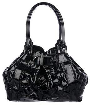 Burberry Quilted Patent Leather Tote