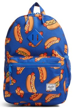 Herschel Boy's Herschell Supply Co. Heritage Hotdog Print Backpack - Blue