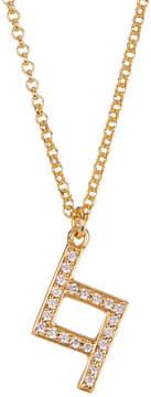 Botkier Zig Zag Pave Glass Pendant Necklace
