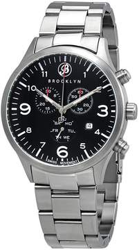 Co Brooklyn Watch Bedford Brownstone Chronograph Black Dial Men's Watch