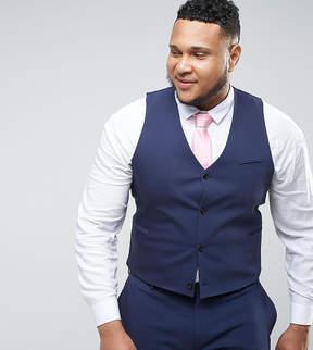 Asos PLUS WEDDING Skinny Suit Vest In Navy