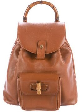 Gucci Mini Vintage Bamboo Backpack - BROWN - STYLE