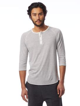 Alternative Apparel Basic Striped Eco-Jersey Raglan Henley Shirt