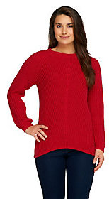 Denim & Co. As Is Cable Knit Long Sleeve Pull-Over Sweater